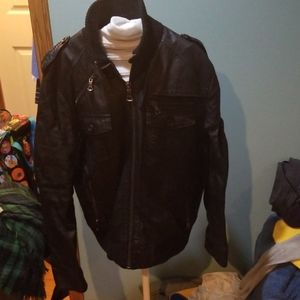 Zara faux leather biker jacket Size L